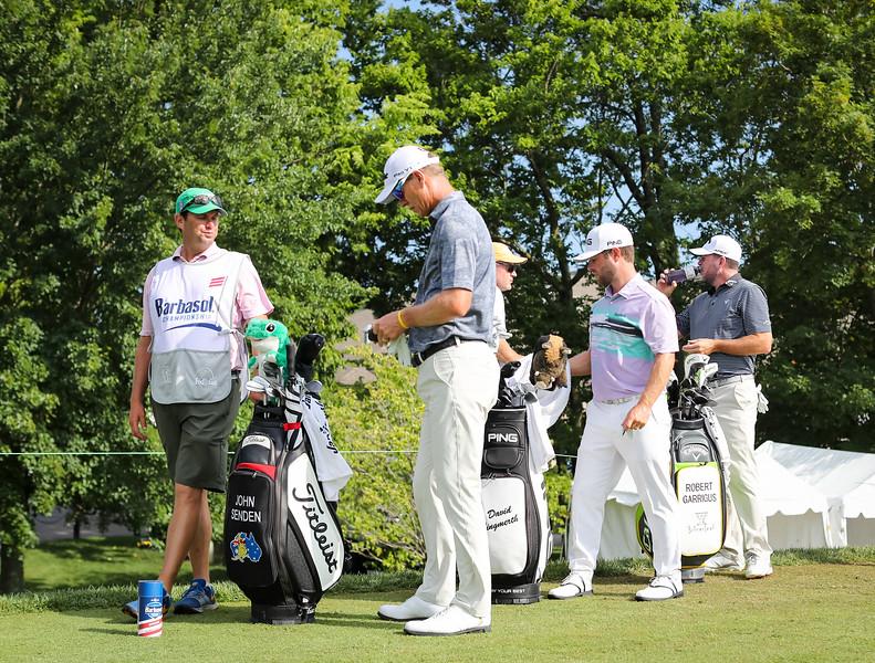 Senden, Lingmerth & Garrigus prepare to tee off on #10, 7.19.19