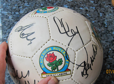 Blackburn Rovers signed footbal Season 1996 1997 I think