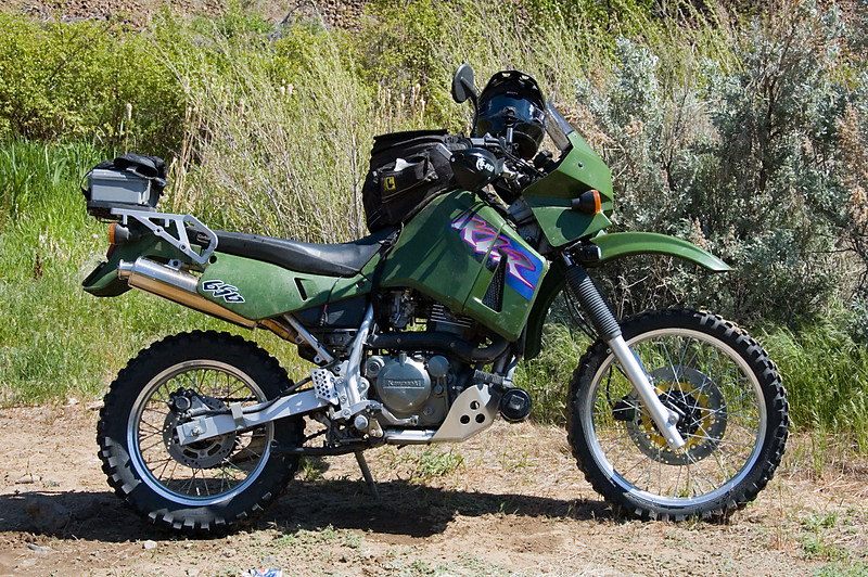 My KLR.  This was a true KLR trip -- dirt roads and nothing too technical.