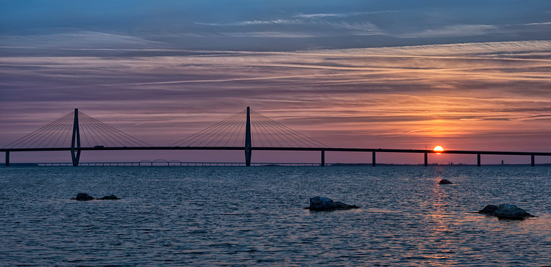 Farø Bridge Sunset