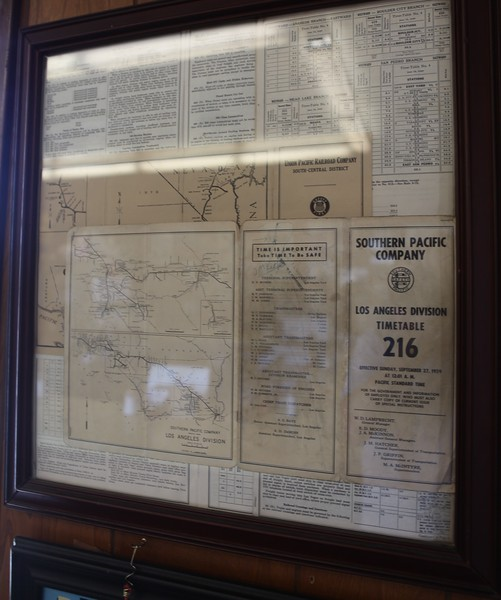 2011, Old Train Timetables on Wall