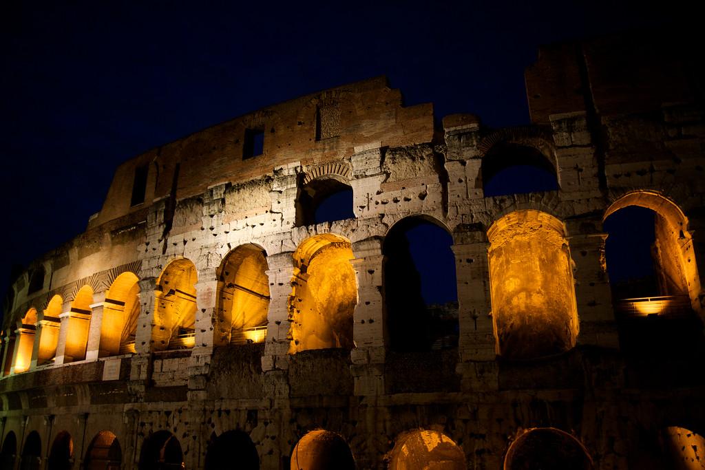 Colosseum at Night - Amphitheatrum Flavium - Rome, Italy