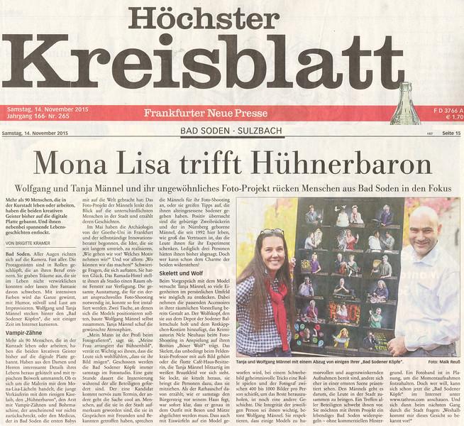 151114 Höchster Kreisblatt Mona Lisa trifft Hühnerbaron.jpg