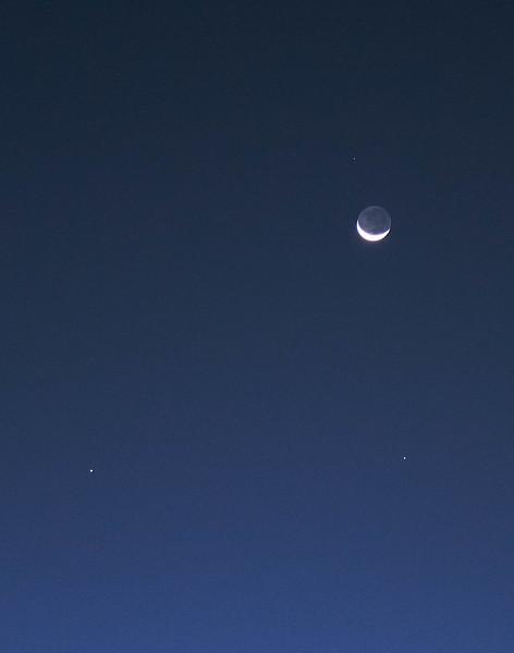Lunar conjunction with Venus, Saturn, Mercury and Zubenelgenubi