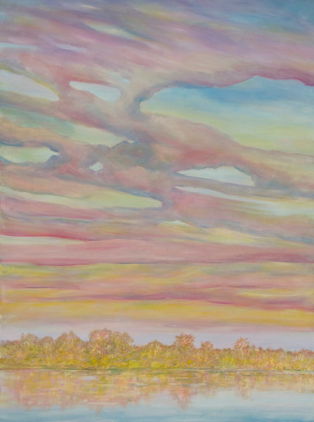 "© 2008 John Rachell Title: Sky, January 27, 2008 Image Size: 36"" w by 48"" d Dated: 2008 Medium and Support: Oils on linen Signed: LR Signature"