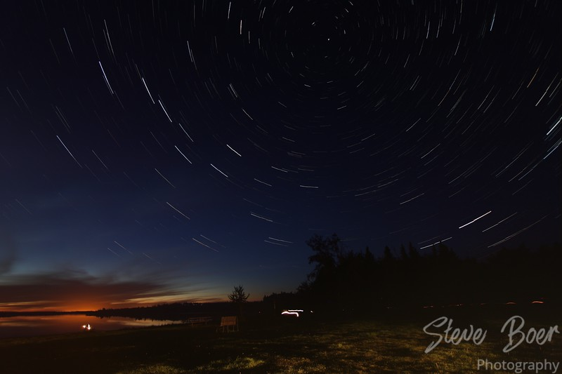 Star trail at Elk Island