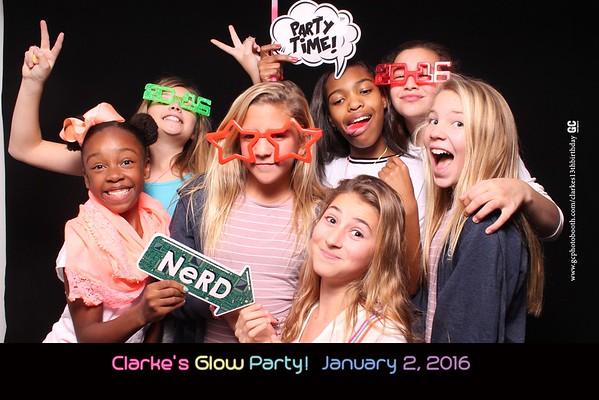 Clarke's Glow Party