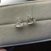 2.97ctw Trilliant Rose Cut Stud Earrings 7
