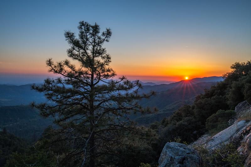 Sunset Outside Kings Canyon National Park