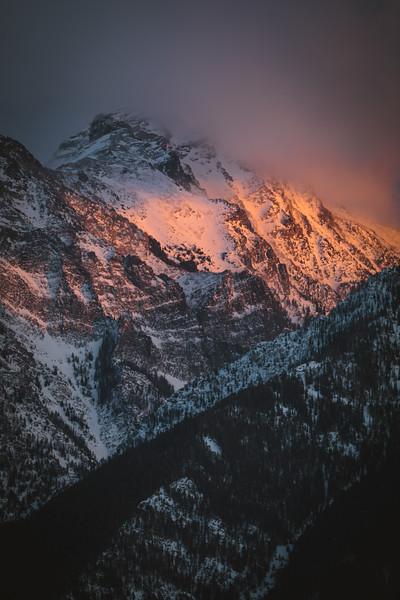 SW Montana peak at sunset