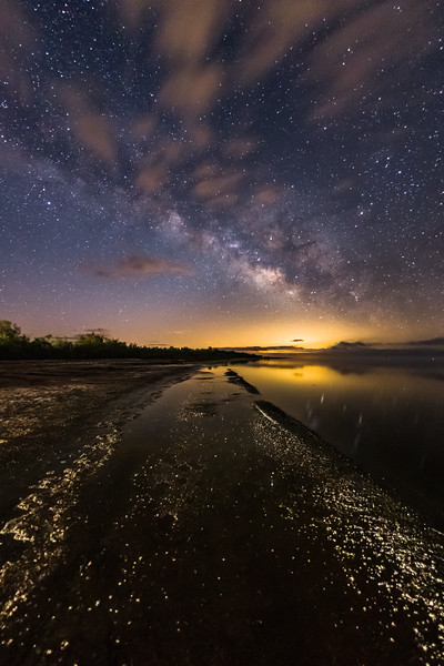 Milky Way Rises Over the Salton Sea