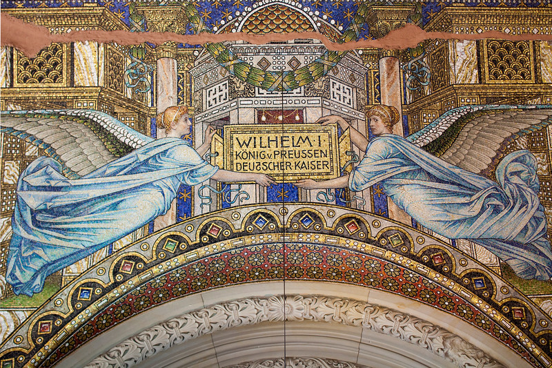 Mosaic from the Kaiser Wilhelm Memorial Church, Berlin, Germany