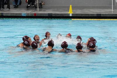 CIF SS Girls Water Polo D2 Finals 2010 - Palos Verdes High School vs Laguna Beach 2/27/10. Final score 6 to 5. PVHS vs LBHS. Photos by Allen Lorentzen.