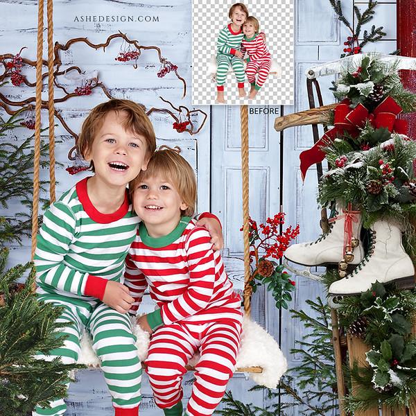 Sample Digital Backgrounds - Christmas 2020
