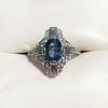 1.41ctw Art Deco Style Aqua and Diamond Dinner Ring 9