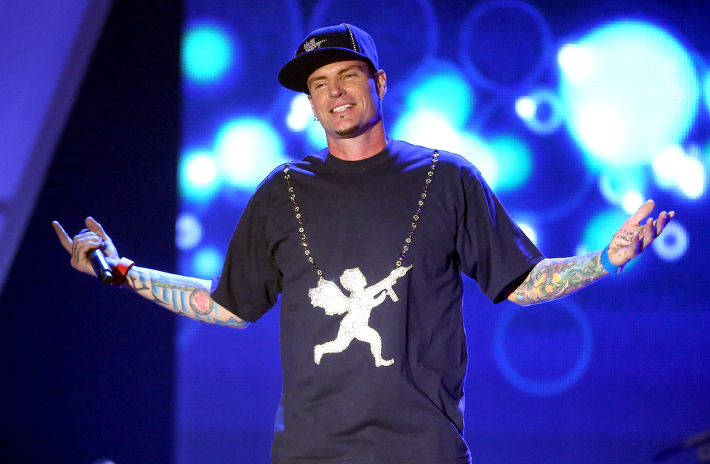 Description of . Recording Artist Vanilla Ice performs onstage at the 3rd Annual Streamy Awards at Hollywood Palladium on February 17, 2013 in Hollywood, California.  (Photo by Frederick M. Brown/Getty Images)