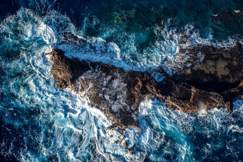 Volcanic rocks in the ocean, Maui, Hawaii