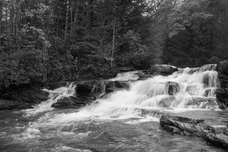 Meadow Run Cascades - Monochrome