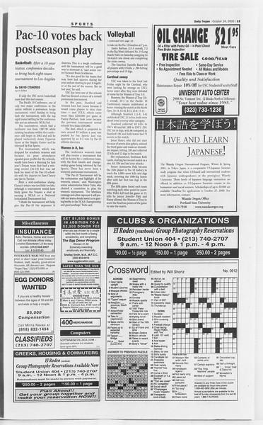 Daily Trojan, Vol. 141, No. 39, October 24, 2000