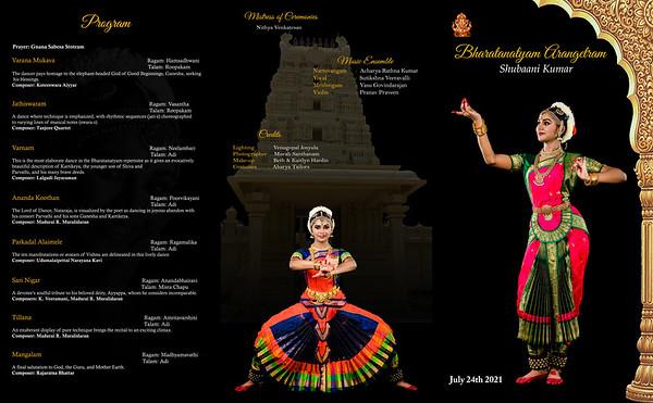 Subhaani's Bharatanatyam Arangetram 2021