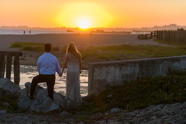 Monica and Bob (After Wedding Bridal Portrait Photography) @ Rio Del Mar / Seacliff Beach, Aptos, California