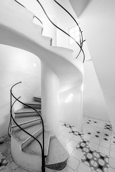 Spiral staircase in Casa Batllo