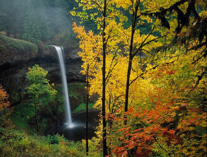 South Silver Creek Falls, autumn