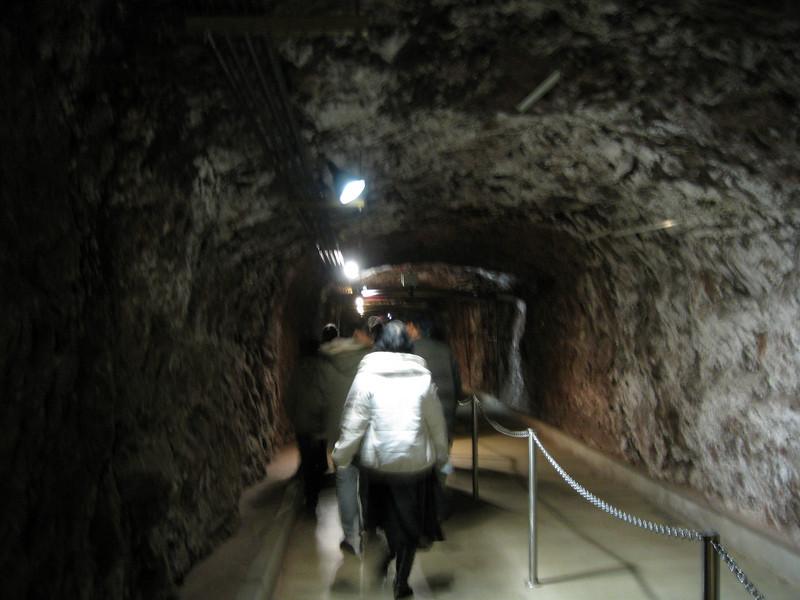 Inside the dam.