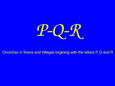 P–Q–R Churches
