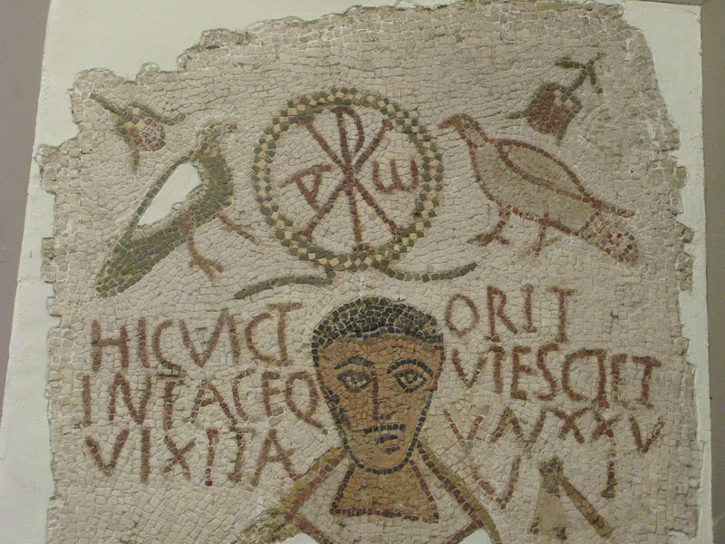Early Christian Mosaic at the Bardo Museum