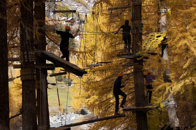 The Ropes Course in Zermatt