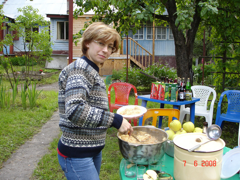 2008-06-07 ДР Князевых на даче с Тительман 02.JPG