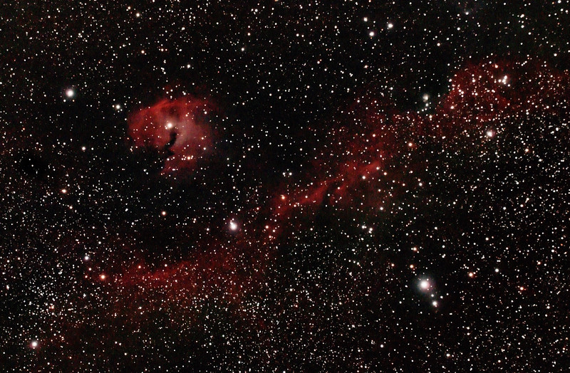 IC2177 - Gum 1&2 - Seagull Nebula - 3/1/2014 (Re-processed cropped stack)