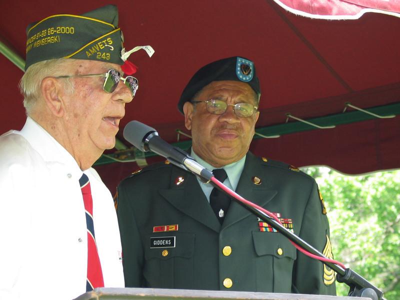 Commander Wenserski and Sergeant Major Giddens