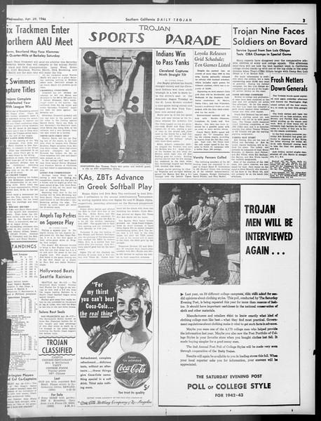 Daily Trojan, Vol. 33, No. 131, April 29, 1942