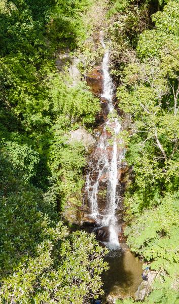 Waterfall on Quebrada Londres in Pico Blanco, Escazu, Costa Rica