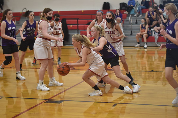 8th grade girls basketball vs. Blair