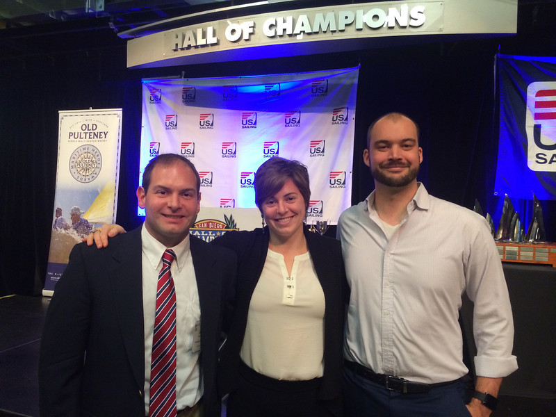 2/6 Jon, my sister Cheryl and Dean at the US Sailing Leadership Awards Ceremony