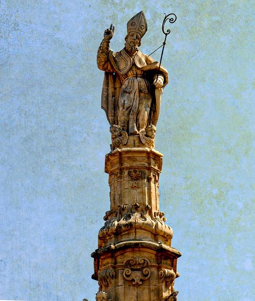 Guglia di Sant'Oronzo opera dello scultore Giuseppe Greco - Piazza della Liberta- Ostuni:La Città Bianca...the white City...