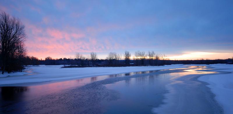 dawn on the Raquette River Potsdam, NY