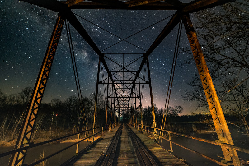 Birds Nest Bridge under the stars