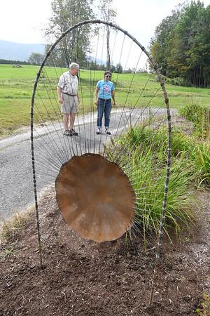 Artist installs piece at Waubeeka Golf Links
