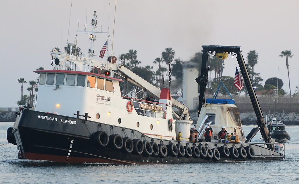 . SpaceX Dragon returns to port Wednesday evening in San Pedro California after splashing down off the coast of Baja, Mexico Tuesday 9am PST. The dragon capsule returned  with nearly 2,700 pounds of experiment samples and equipment no longer needed on the international space station. San Pedro California, March 27,2013