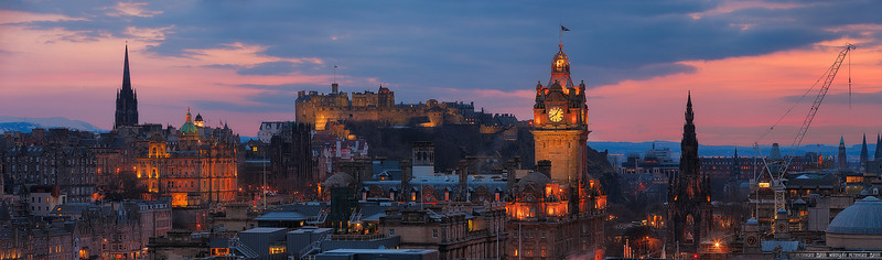 Skyline of Edinburgh