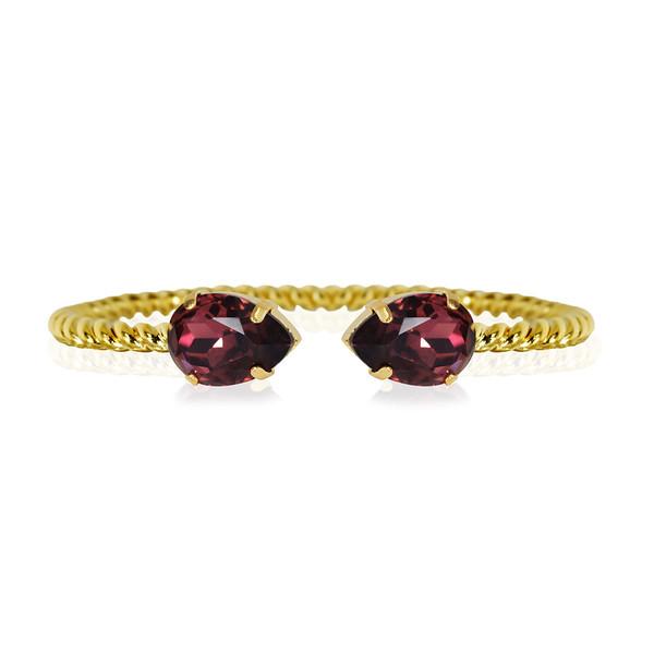 Mini Drop bracelet / Burgundy / Gold