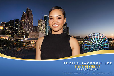 May 13, 2019 - Sheila Jackson Lee Five Star Service Celebration