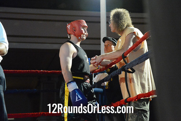 Bout #12 - Joe Hurst, West Side Boxing Club  vs  Brian Meyer, Chagrin Valley Boxing Club,  185 Lbs. - Sub-Masters