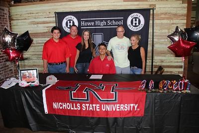 Jake Fabacher signs with Nicholls State University, 7/18/2021