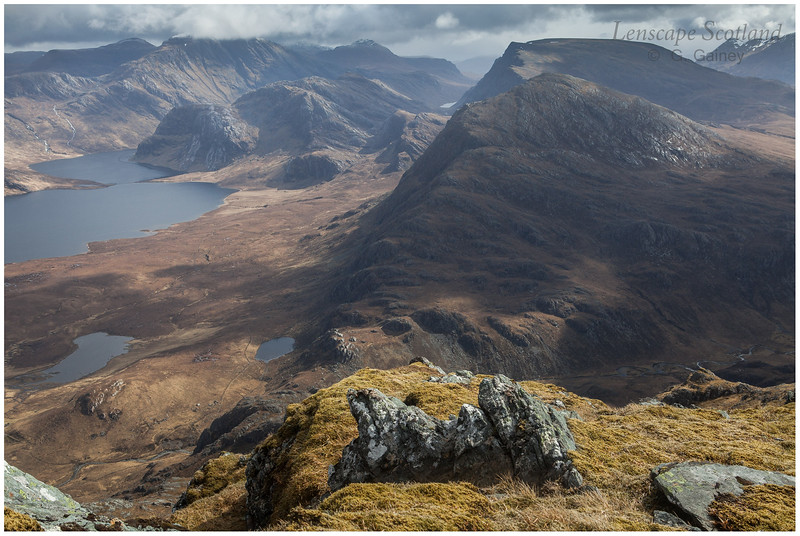 the remote wilderness of the Letterewe and Fisherfield hills