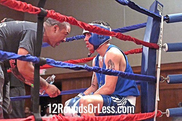 Bout 9 David Rodriguez, Blue Gloves, Rodriguez Boxing Team, Akron -vs- Terrell Ross, Red Gloves, MLK Premier Boxing, Cleveland, 165 Lbs